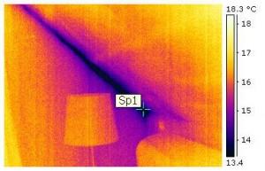Leckagen im Bereich der Dachisolierung, Innere Abkühlungsflächen