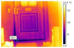 Innenthermografie: undichte Haustüre