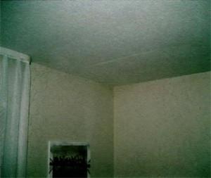 Außenwandecke eines Schlafzimmers