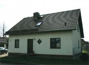 Wohnhaus zum Zeitpunkt der Thermografie...